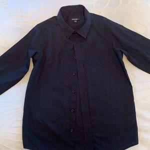 George Boys Black Dress Shirt